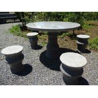 御影石テーブルセット